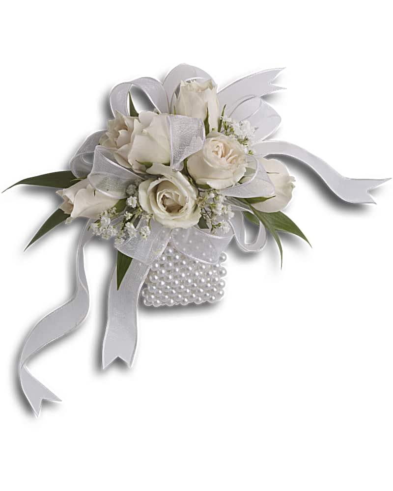 Bracelet-fleur Murmure Blanc