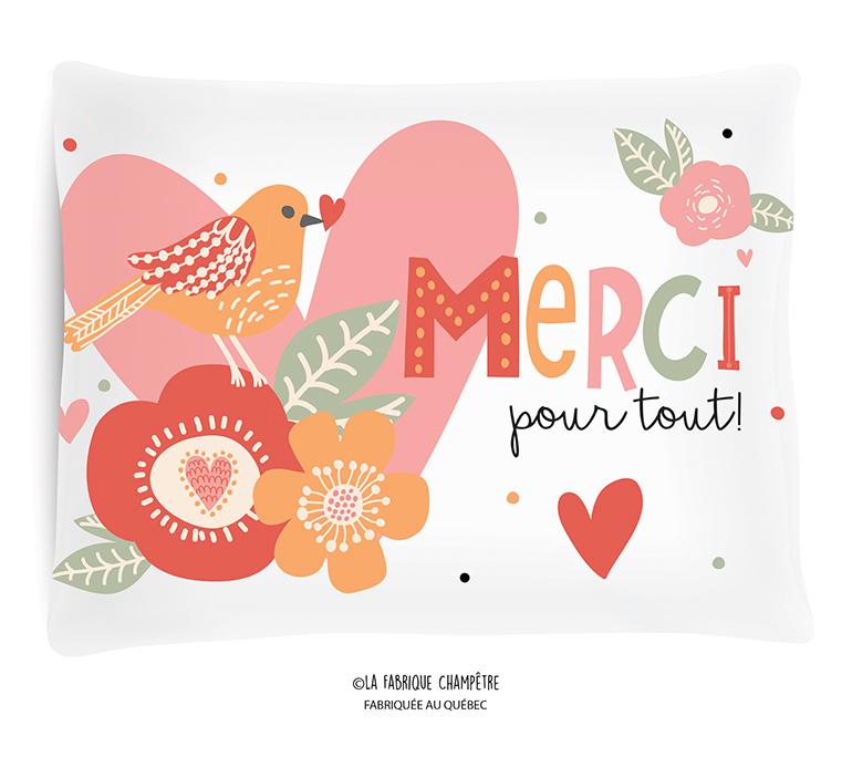 Coussin ¨Merci Pour Tout!¨