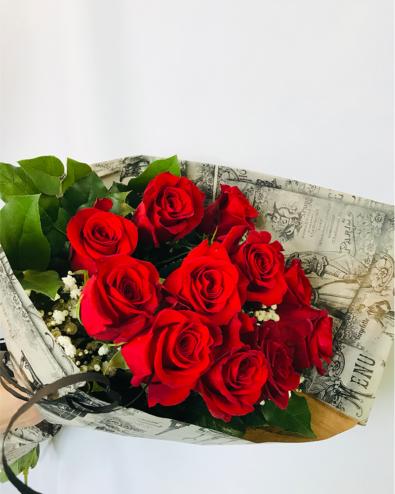 Bouquet 12 Roses Rouges